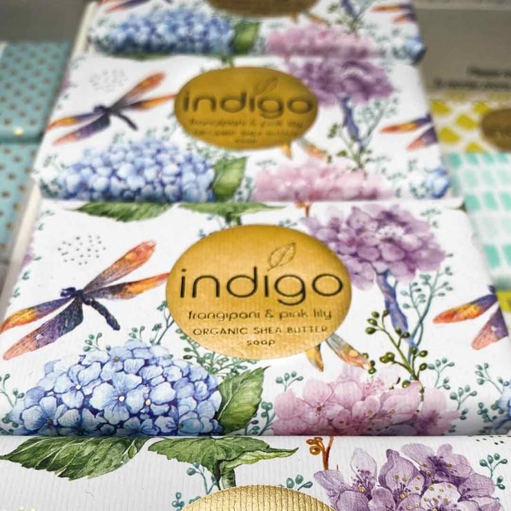 Indigo organic soap